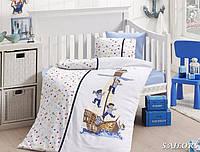 Постельное белье в кроватку First Choice Бамбук сатин Sailors
