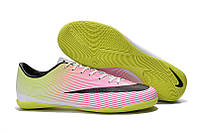 Футзалки (бампы) Nike Mercurial Victory V IC White/Black/Volt/Total Orange, фото 1
