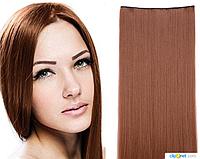 Накладные волосы локоны на клипсах,шиньон,трессы 60 см цвет светлый шатен