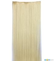 Накладные волосы локоны на клипсах,шиньон,трессы 60 см цвет блонд