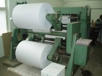 Порезка и расфлатовка рулонов бумаги