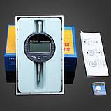 Цифровий індикатор годинникового типу ИЧЦ 0-12,7 мм (0,01 мм) з вушком, фото 8