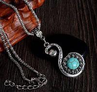 Подвеска Античный лебедь/бижутерия/ цвет серебро