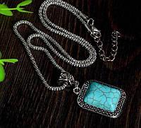 Подвеска Античный камень/бижутерия/ цвет серебро
