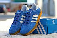 Мужские кроссовки Adidas Gazelle Indoor ярко-голубые