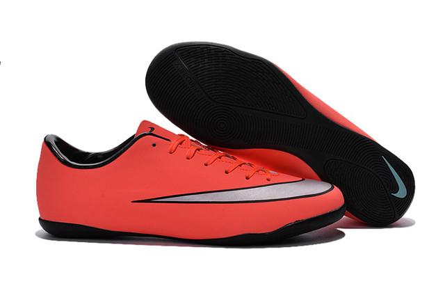 Футзалки (бампы) Nike Mercurial Victory V IC Bright Mango/Metallic Silver/Hyper Turq