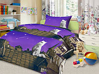 Комплект детского постельного белья Пушистый мечтатель в детскую кроватку бязь Полуторный комплект