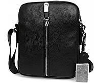 Эксклюзивная мужская кожаная сумка отличного качества черная ALVI av-4-5651