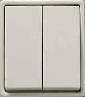 Выключатель накладная двухклавишный 5655 Polo HAGER