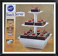 Стенд для кексов 3 яруса (квадратный), фото 1