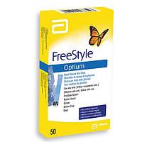 Тест-полоски FreeStyle Optium (ФриСтайл Оптиум), 50 шт.
