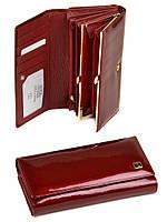 Большой кожаный кошелек Bretton. Лаковые кошельки женские. Пять цветов., фото 1