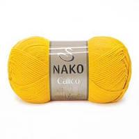 Пряжа Calico Nako, № 4285, желтый