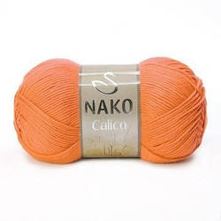 Пряжа Calico Nako, № 4570, оранж