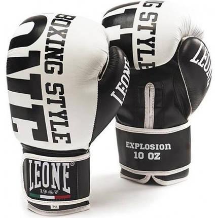Боксерские перчатки Leone Explosion White 10 ун., фото 2