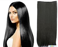 Накладные волосы локоны на клипсах,шиньон,трессы 60 см цвет черный