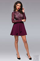 Женское платье Ларочка верх гипюр