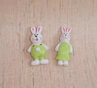 """Наклейки """"Кролики в зеленом"""" 2 шт., фото 1"""