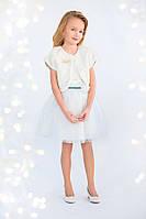 Красивая детская меховая накидка для девочки 3-8 лет (болеро, размер 98-128) ТМ Модный карапуз