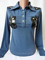 Трикотажная рубашка на кнопках.