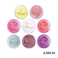 Набор цветных акрилов Lady Victory A-MIX-04