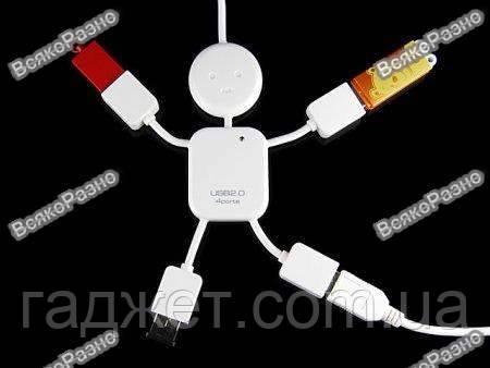 USB-Хаб Человечек 4 порта, фото 2