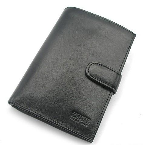 Кошелек мужской кожаный черный Bond 509 Турция