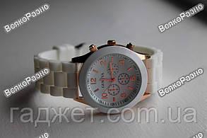 Часы GENEVA  БЕЛОГО цвета с силиконовым ремешком, фото 3