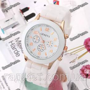 Часы GENEVA  БЕЛОГО цвета с силиконовым ремешком, фото 2
