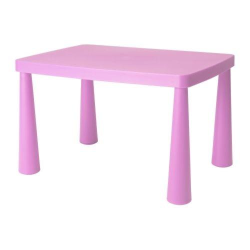 Стол детский квадратный Ikea Mammut (розовый витрина)