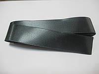Стрічка атласна  двостороння 3 см ( 10 метрів) темно сіра