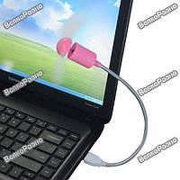 Вентилятор для ноутбука питание USB желтого или розового цвета.