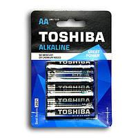 Батарейки R6 TOSHIBA Alkaline  (блистер)