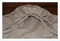 Льняная простынь на резинке, 180*200*20-27см