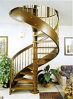 Лестницы винтовые из дерева