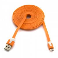 USB - Micro USB шнур плоский 3m