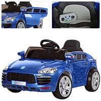 Детский электромобиль BMW M 3272 EBLRS-4 синий, кожаное сиденье и автопокраска