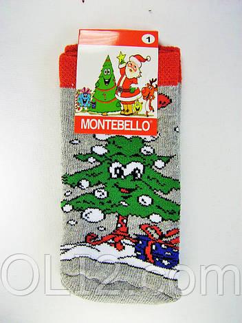 Детские носки новогодние на подарок махровые под елку
