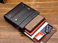 Мужская кожаная сумка. Модель 423, фото 5