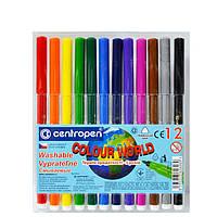 Фломастеры Centropen 12 цветов Colour World