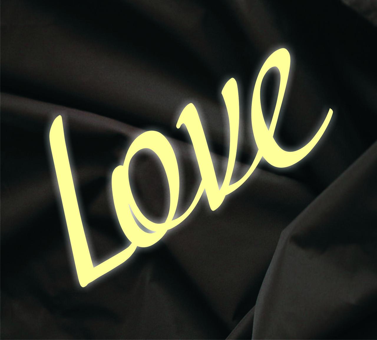 Объемная надпись Love 1