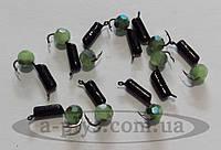 Мормышка Гвоздешарик граненный 2.0 мм / зеленый