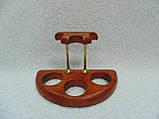 Подставка для трех трубок деревянная с латунными вставками, фото 5