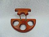 Подставка для трех трубок деревянная с латунными вставками, фото 6