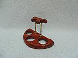 Подставка для трех трубок деревянная с латунными вставками, фото 7