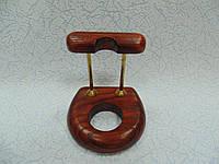 Подставка для трубки деревянная с латунными вставками