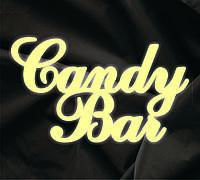 Объемная надпись Candy Bar