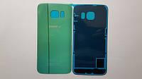 Крышка  задняя  Samsung G925F, Galaxy S6 Edge зеленая original .
