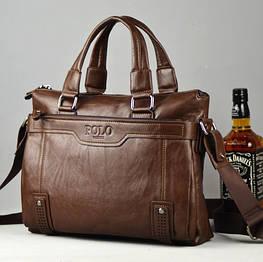Мужская кожаная сумка Polo. Модель 426