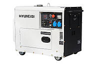 Дизельный обесшумленный генератор Hyundai DHY 6000SE. Бесплатная доставка по Украине!